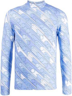 Niebieska t-shirt z printem Fiorucci