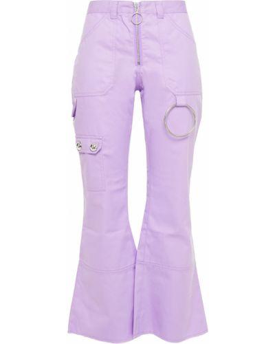 Spodnie bawełniane - liliowe Marques Almeida
