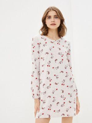 Домашнее бежевое платье Nymos