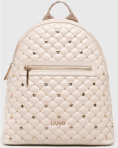 Кожаный рюкзак бежевый Liu Jo