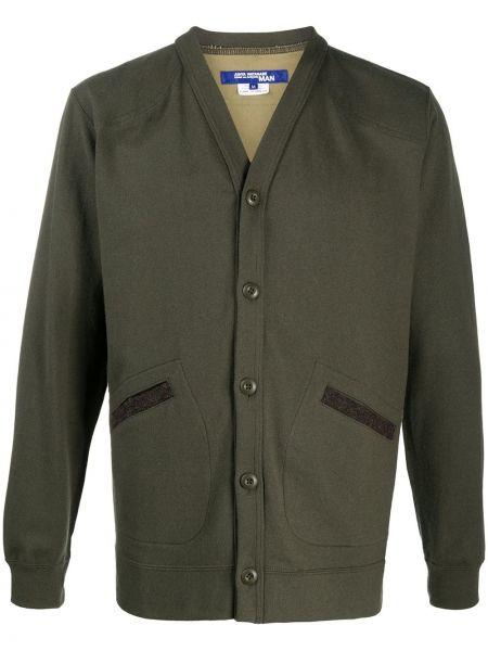 Тонкая зеленая нейлоновая куртка на пуговицах Junya Watanabe Man