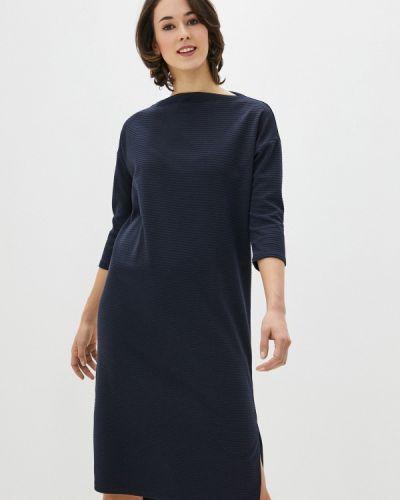 Вязаное трикотажное синее платье Base Forms