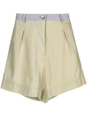 Хлопковые с завышенной талией шорты с карманами Forte Forte