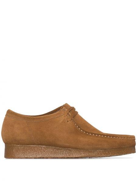 Кожаные коричневые туфли Clarks Originals