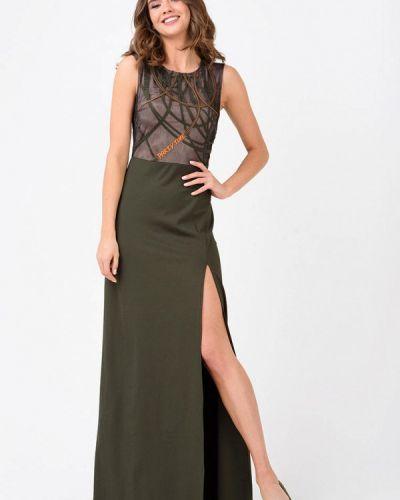 Вечернее платье весеннее хаки Ricamare