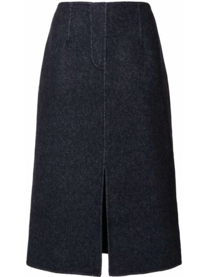 Трикотажная юбка миди - синяя Goen.j
