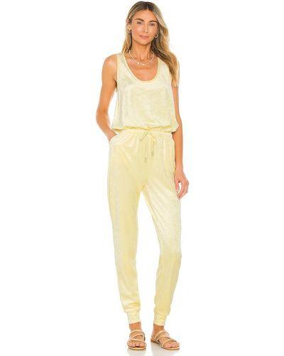Текстильный желтый комбинезон с карманами Generation Love