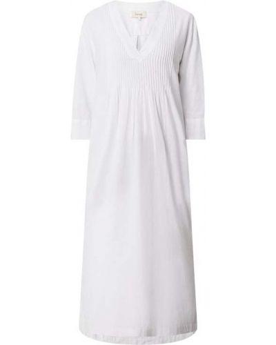 Biała sukienka rozkloszowana z wiskozy Levete Room