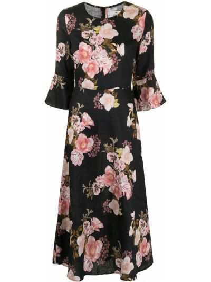 Черное платье мини в цветочный принт We Are Kindred