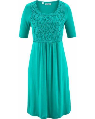 Платье ажурное с изумрудом Bonprix