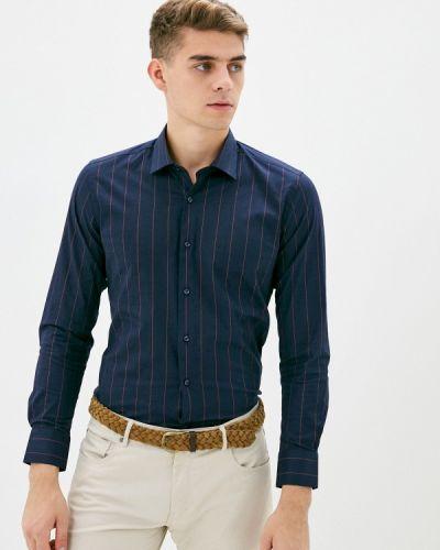 Синяя с рукавами рубашка Bawer