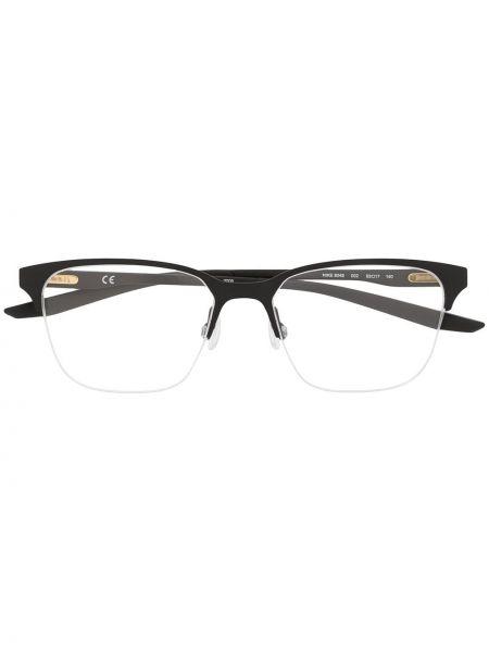 Czarny oprawka do okularów metal plac za pełne Nike