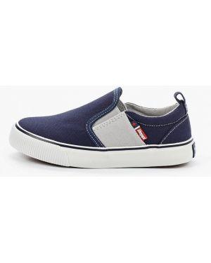 Слипоны текстильные синие Beppi