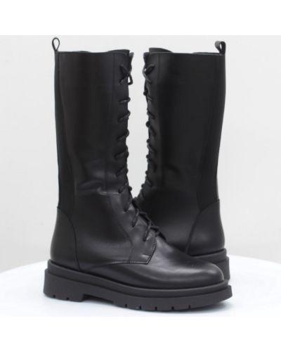 Кожаные сапоги - черные Vitlen