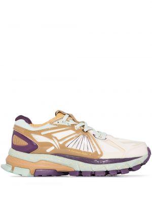 Кроссовки на шнуровке - желтые Li-ning