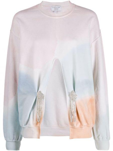 Bluza bezpłatne cięcie różowy Collina Strada
