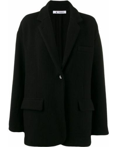 Прямая черная длинная куртка Barena