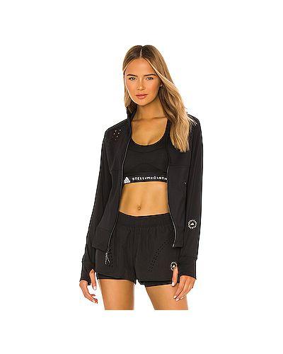 Черная куртка на молнии с карманами Adidas By Stella Mccartney