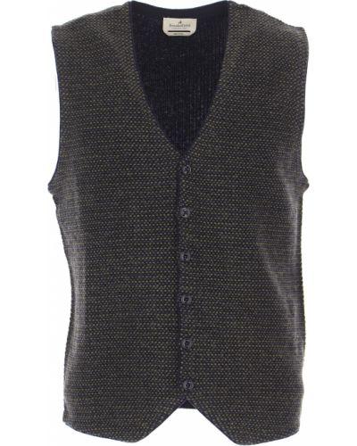 Bawełna kaszmir zielony sweter na przyciskach Brooksfield