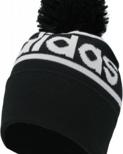 Шапка с помпоном - черная Adidas