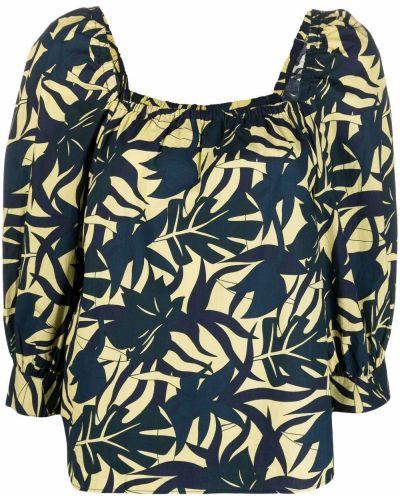 Синяя блузка с вырезом Ba&sh