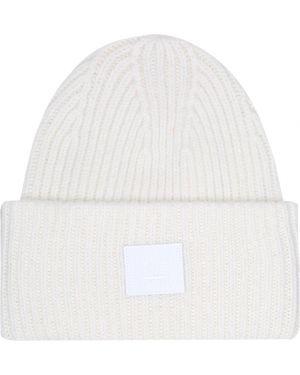 Шерстяная белая шапка бини Acne Studios