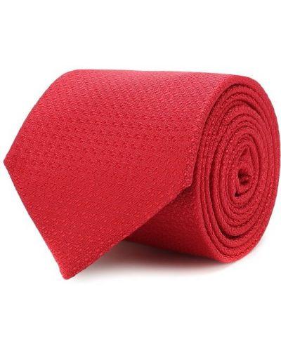 Красный шелковый галстук Canali