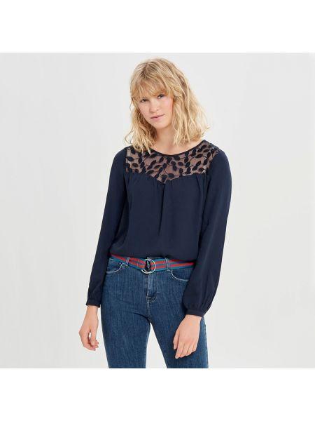 Блузка с длинным рукавом кружевная прямая Only