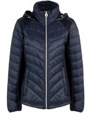 Приталенная теплая синяя куртка с капюшоном на молнии Luhta