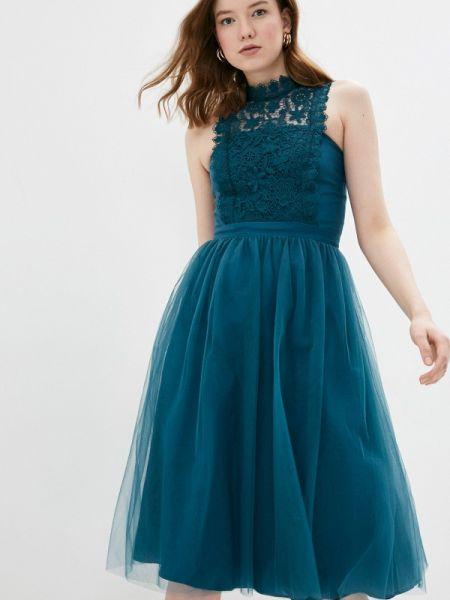 Вечернее платье бирюзовый весеннее Chi Chi London