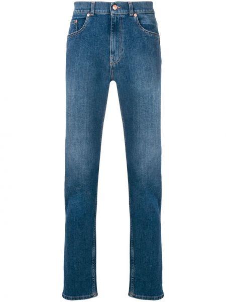 Bawełna bawełna niebieski klasyczny jeansy z kieszeniami Tom Wood