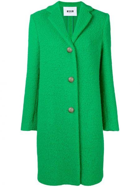 Длинное пальто зеленое спортивное Msgm