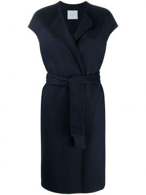 Синее кашемировое пальто без рукавов Malo