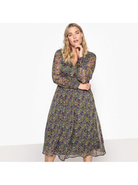 c2a40ac3801 Платье макси с цветочным принтом с вырезом Castaluna