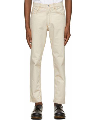 Czarne jeansy z paskiem srebrne Daniel W. Fletcher