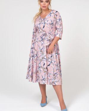 Платье с поясом платье-сарафан с рукавами Valentina