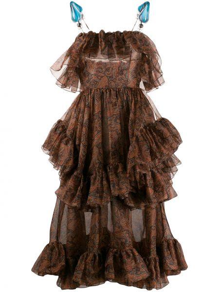 Sukienka z paskiem organza Christopher Kane