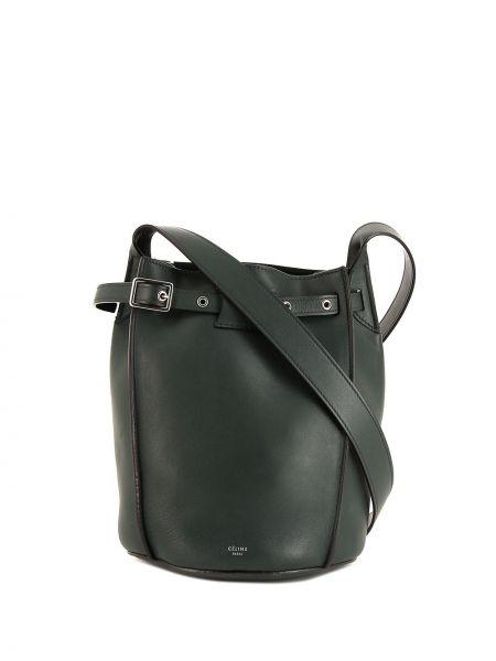 Кожаная зеленая сумка на плечо Céline Pre-owned