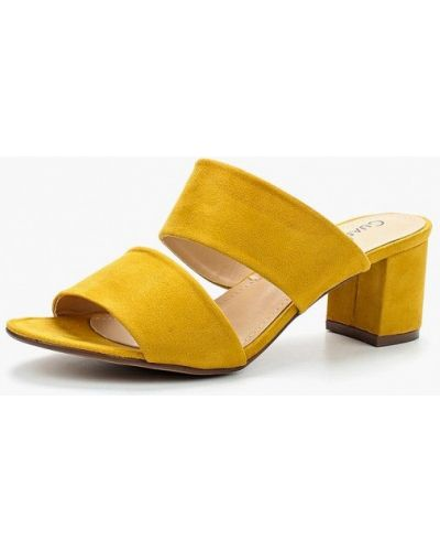 Желтые сабо Guapissima