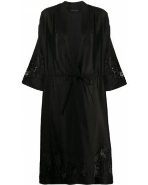 Кимоно черный с рукавами Carine Gilson