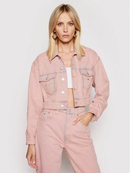 Kurtka jeansowa - różowa Tommy Jeans