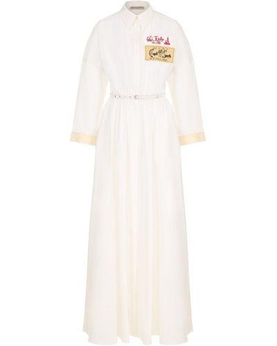 Платье макси на пуговицах приталенное Emilio Pucci
