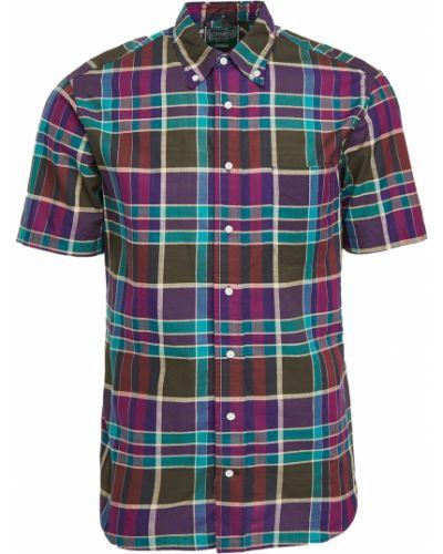Рубашка в клетку с короткими рукавами с воротником Gitman Vintage