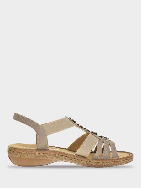 Кожаные сандалии - коричневые Rieker