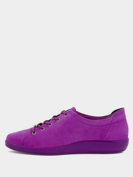 Мягкие фиолетовые текстильные низкие кеды Ecco