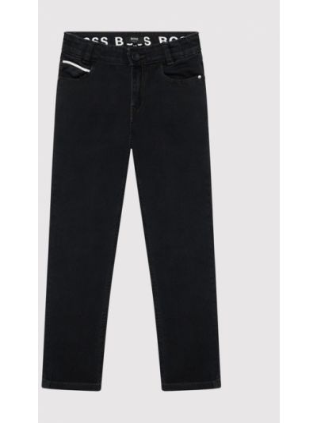 Czarne jeansy slim Boss