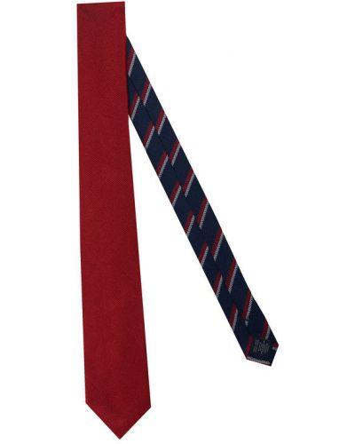 Prążkowany czerwony krawat Tommy Hilfiger