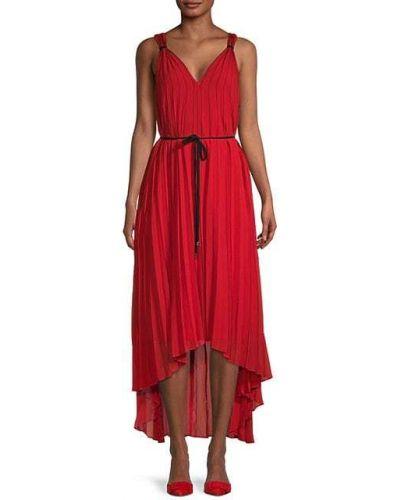 Плиссированное платье макси с поясом без рукавов Ted Baker London