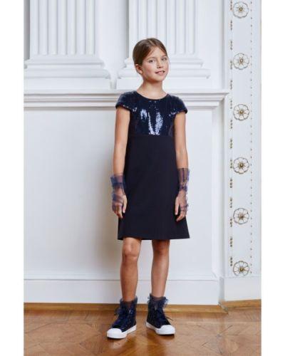 Платье с рукавами школьное с подкладкой смена