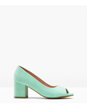Туфли на каблуке с открытым носком Bonprix